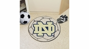 "Fan Mats 4419  ND - University of Notre Dame Fighting Irish 27"" Diameter Soccer Ball Shaped Area Rug"