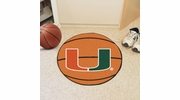 "Fan Mats 4458  UM - University of Miami Hurricanes 27"" Diameter Basketball Shaped Area Rug"