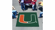 Fan Mats 4462  UM - University of Miami Hurricanes 5' x 6' Tailgater Mat / Area Rug