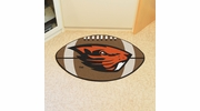 "Fan Mats 4519  OSU - Oregon State University Beavers 20.5"" x 32.5"" Football Shaped Area Rug"