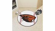 "Fan Mats 4525  OSU - Oregon State University Beavers 27"" Diameter Baseball Shaped Area Rug"