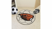 "Fan Mats 4526  OSU - Oregon State University Beavers 27"" Diameter Soccer Ball Shaped Area Rug"