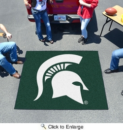 Fan Mats 4528  MSU - Michigan State University Spartans 5' x 6' Tailgater Mat / Area Rug
