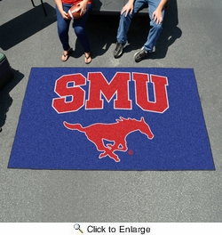 Fan Mats 4575  SMU - Southern Methodist University Mustangs 5' x 8' Ulti-Mat Area Rug / Mat
