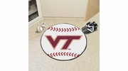 "Fan Mats 4584  VT - Virginia Tech Hokies 27"" Diameter Baseball Shaped Area Rug"