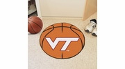 "Fan Mats 4585  VT - Virginia Tech Hokies 27"" Diameter Basketball Shaped Area Rug"