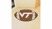 "Fan Mats 4590  VT - Virginia Tech Hokies 20.5"" x 32.5"" Football Shaped Area Rug"