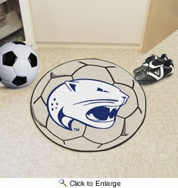 "Fan Mats 4655  USA - University of South Alabama Jaguars 27"" Diameter Soccer Ball Shaped Area Rug"