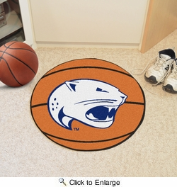 "Fan Mats 4657  USA - University of South Alabama Jaguars 27"" Diameter Basketball Shaped Area Rug"