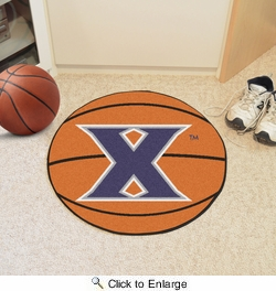 "Fan Mats 4730  Xavier University Musketeers 27"" Diameter Basketball Shaped Area Rug"