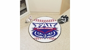 "Fan Mats 48  FAU - Florida Atlantic University Owls 27"" Diameter Baseball Shaped Area Rug"