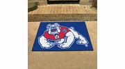 "Fan Mats 4888  Fresno State Bulldogs 33.75"" x 42.5"" All-Star Series Area Rug / Mat"