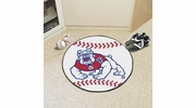 "Fan Mats 4890  Fresno State Bulldogs 27"" Diameter Baseball Shaped Area Rug"