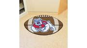 "Fan Mats 4894  Fresno State Bulldogs 20.5"" x 32.5"" Football Shaped Area Rug"