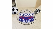 "Fan Mats 49  FAU - Florida Atlantic University Owls 27"" Diameter Soccer Ball Shaped Area Rug"