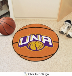 "Fan Mats 491  UNA - University of North Alabama Lions 27"" Diameter Basketball Shaped Area Rug"