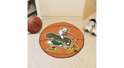 "Fan Mats 5061  UM - University of Miami Hurricanes 27"" Diameter Basketball Shaped Area Rug"