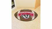 "Fan Mats 5124  University of Wisconsin Badgers 20.5"" x 32.5"" Football Shaped Area Rug"