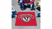 Fan Mats 5126  University of Wisconsin Badgers 5' x 6' Tailgater Mat / Area Rug