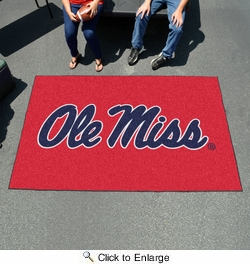Fan Mats 5132  Ole Miss - University of Mississippi Rebels 5' x 8' Ulti-Mat Area Rug / Mat