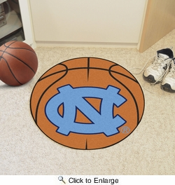 "Fan Mats 5151  UNC - University of North Carolina at Chapel Hill Tar Heels 27"" Diameter Basketball Shaped Area Rug"