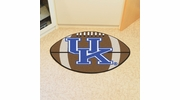 "Fan Mats 5163  UK - University of Kentucky Wildcats 20.5"" x 32.5"" Football Shaped Area Rug"