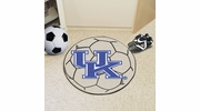 "Fan Mats 5165  UK - University of Kentucky Wildcats 27"" Diameter Soccer Ball Shaped Area Rug"