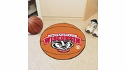 "Fan Mats 5178  University of Wisconsin Badgers 27"" Diameter Basketball Shaped Area Rug"