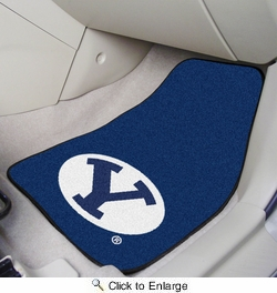 "Fan Mats 5199  BYU - Brigham Young University Cougars 17"" x 27"" Carpeted Car Mat Set"