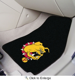"Fan Mats 5232  Ferris State University Bulldogs 17"" x 27"" 2-pc Carpet Car Mat Set"