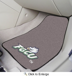 "Fan Mats 5235  FGCU - Florida Gulf Coast University Eagles 17"" x 27"" Carpeted Car Mat Set"