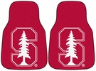 "Fan Mats 5320  Stanford University Cardinal 17"" x 27"" Carpeted Car Mat Set"