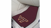"Fan Mats 5421  VT - Virginia Tech Hokies 17"" x 27"" Carpeted Car Mat Set"