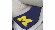 "Fan Mats 5458  UM - University of Michigan Wolverines 17"" x 27"" Carpeted Car Mat Set"