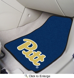 "Fan Mats 5475  University of Pittsburgh Panthers 17"" x 27"" Carpeted Car Mat Set"