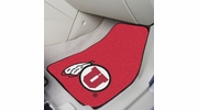 "Fan Mats 5488  University of Utah Utes 17"" x 27"" Carpeted Car Mat Set"