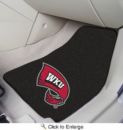 "Fan Mats 5514  WKU - Western Kentucky University Hilltoppers 17"" x 27"" Carpeted Car Mat Set"