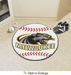 "Fan Mats 555  University Of Wisconsin-Milwaukee Panthers 27"" diameter Baseball Mat"
