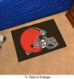 "Fan Mats 5706  NFL - Cleveland Browns 19"" x 30"" Starter Series Area Rug / Mat"