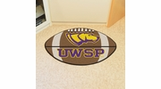 "Fan Mats 571  UWSP - University of Wisconsin Stevens Point Pointers 20.5"" x 32.5"" Football Shaped Area Rug"