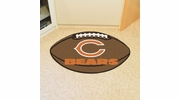 "Fan Mats 5712  NFL - Chicago Bears 20.5"" x 32.5"" Football Shaped Area Rug"