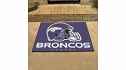 "Fan Mats 5716  NFL - Denver Broncos 33.75"" x 42.5"" All-Star Series Area Rug / Mat"