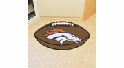 "Fan Mats 5719  NFL - Denver Broncos 20.5"" x 32.5"" Football Shaped Area Rug"