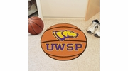 "Fan Mats 572  UWSP - University of Wisconsin Stevens Point Pointers 27"" Diameter Basketball Shaped Area Rug"