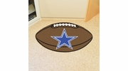 "Fan Mats 5726  NFL - Dallas Cowboys 20.5"" x 32.5"" Football Shaped Area Rug"