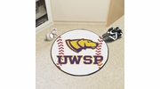 "Fan Mats 573  UWSP - University of Wisconsin Stevens Point Pointers 27"" Diameter Baseball Shaped Area Rug"