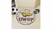 "Fan Mats 574  UWSP - University of Wisconsin Stevens Point Pointers 27"" Diameter Soccer Ball Shaped Area Rug"
