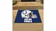 """Fan Mats 5746  NFL - Indianapolis Colts 33.75"""" x 42.5"""" All-Star Series Area Rug / Mat"""