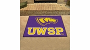 "Fan Mats 575  UWSP - University of Wisconsin Stevens Point Pointers 33.75"" x 42.5"" All-Star Series Area Rug / Mat"
