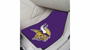 "Fan Mats 5761  NFL - Minnesota Vikings 17"" x 27"" Carpeted Car Mat Set"